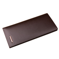 Free Shipping Hot Sales Top Grade Brand Business Men Wallet Long Section Genuine Leather Man Purse