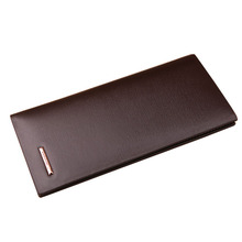 Section split sales business man grade purse wallet top brand long