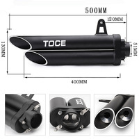 51MM TOC Motorcycle Modified Exhaust Muffler Double Pipe For YAMAHA R6 2006~2015 R1 R3 R6 NINJIA250 ZX10R BN300 TOCE YA012