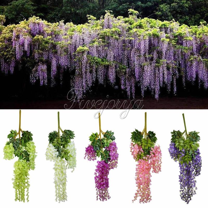 unids cm plantas colgantes de flores de seda artificial wisteria flor artificial de seda
