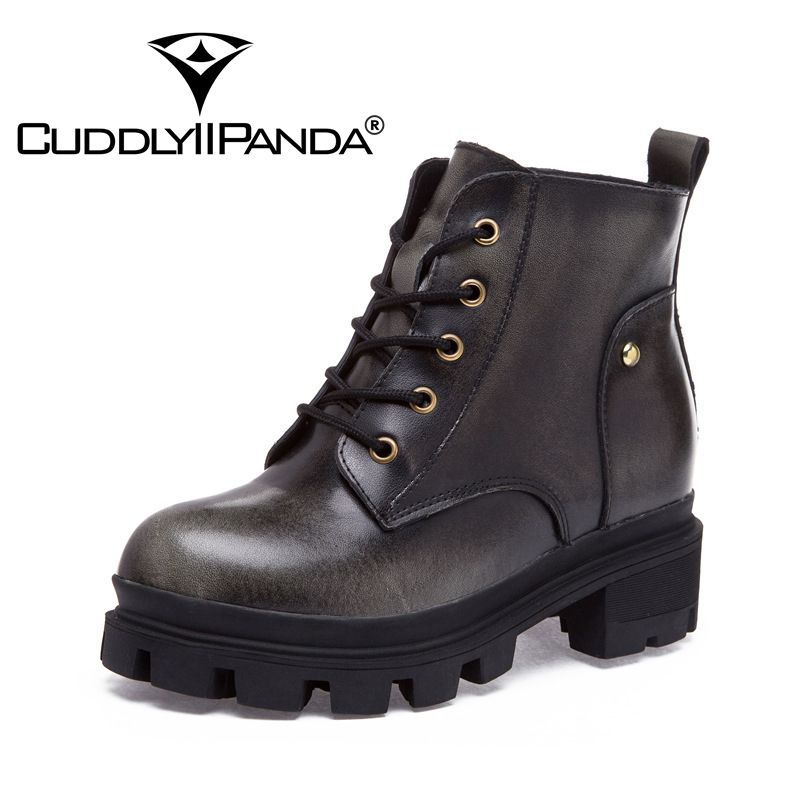 CuddlyIIPanda 2017 New Arrival Women Rivet Martin Boots Autumn Winter Women Return To Ancients British Style Women Short Boots martin new winter with thick british style short canister female fall side zipper boots