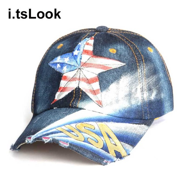 2018 Hand Painted USA Eagle Flag Baseball Caps Women Snapback Dad Hats For  Men Bone Feminino Hip Hop Fashion Casquette Caps b9b740f5b14