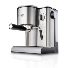 Free shipping Semi automatic steam pressure stainless steel casing of Italian household coffee machine