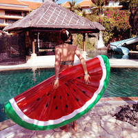 Giant Watermelon Inflatable Mattress Pool Float Toy Sunbathe Beach Mat Air Pad Buoy Eco friendly Swimming Ring Circle Party Toys