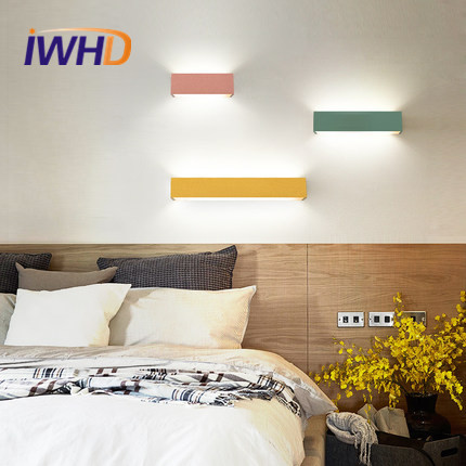 Simple Modern LED Wall Lamp Creative Aluminum Wall Sconces Colorful Bathroom Light For Home Lighting Integrated Lampe Murale modern lamp trophy wall lamp wall lamp bed lighting bedside wall lamp