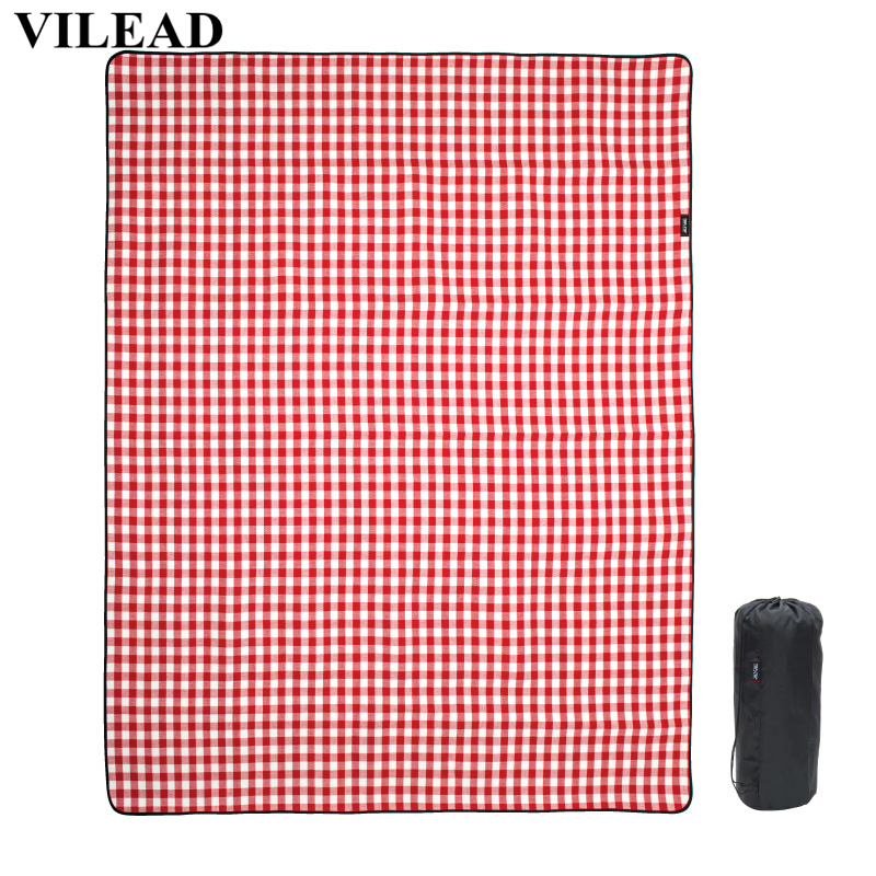 VILEAD 240*200cm Picnic Camping Mat Folding Waterproof Beach Outdoor Pic Nic Travel Tarp Foldable Blanket Ground Dampproof Camp-in Camping Mat from Sports & Entertainment