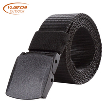 125CM Length Outdoor Military Tactical Belt Plastic Buckle Nylon Waist Belts Multicam Molle Automatic Buckle Army