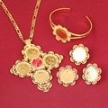 New Arrival Coin Jewelry Sets Ethiopian Gold Coin Bridal Wedding Eritrea Habesha Jewelry