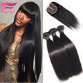 Brazilian Straight Hair With Closure Mocha Hair Brazilian Straight Human Hair Weave With Closure 3 Bundles With Closure Straight