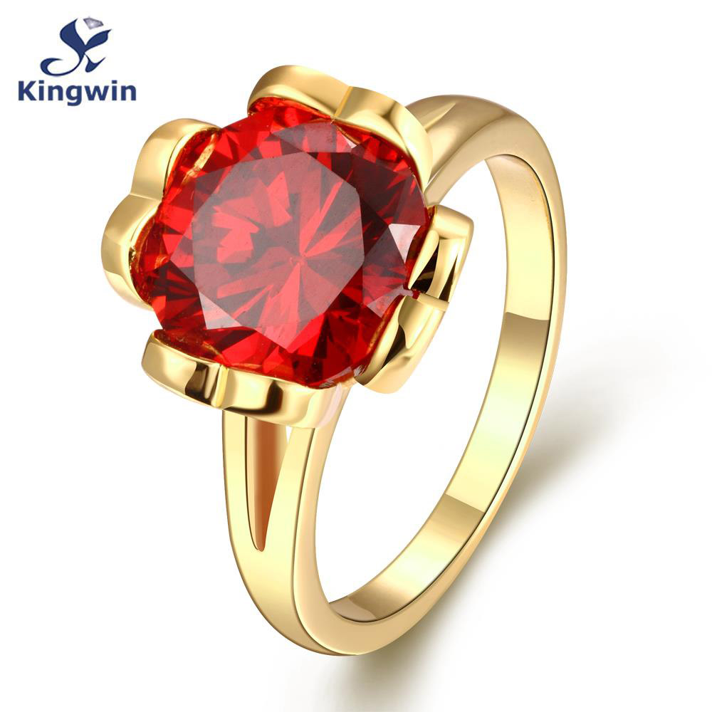 Online buy wholesale january birthdays from china january new italy designer women gold ring plated fashion jewelry lab red cz zircon anniversary january birthday dhlflorist Gallery