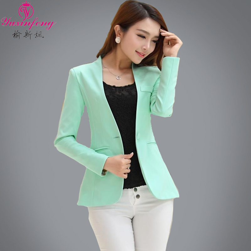Careful Women Office Suit Jackets Coat Slim Short Design Long Sleeve Ladies Blazer Girls Work Wear Jacket Clothing Wine Gray Blue Blazers
