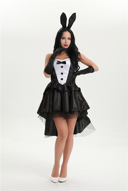 free shipping Halloween costume tuxedo bunny costume ladies magician game uniforms Sexy Halloween Costume Ideas  sc 1 st  AliExpress.com & free shipping Halloween costume tuxedo bunny costume ladies magician ...