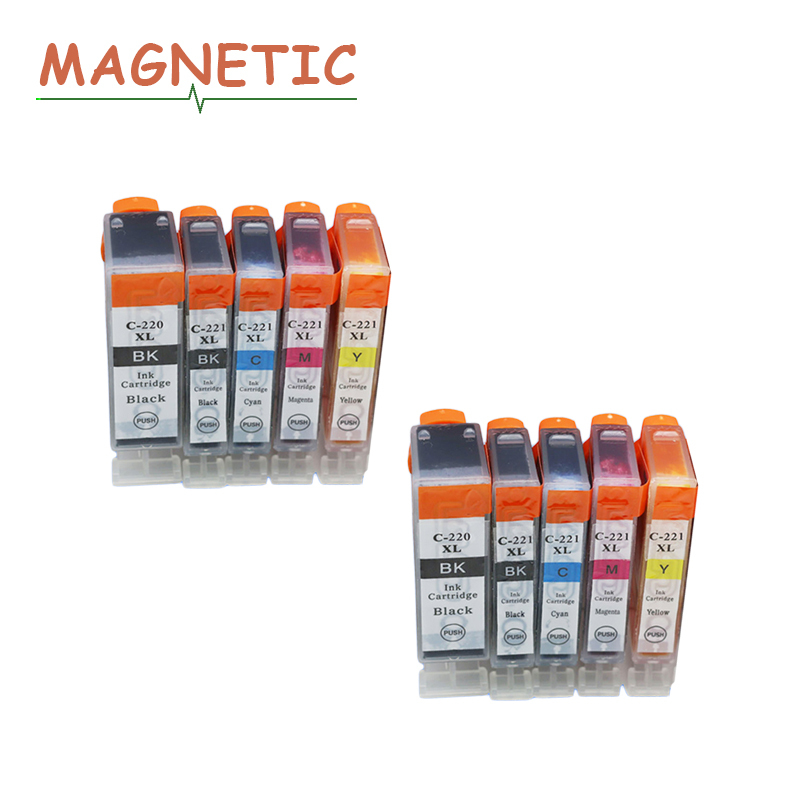 10pcs compatible ink Cartridge PGI-220 CLI-221 PGI220 PGI 220 For <font><b>Canon</b></font> <font><b>PIXMA</b></font> <font><b>IP3600</b></font> IP4600 IP4700 MX860 MX870 inkjet printer image