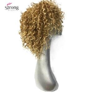 Image 5 - StrongBeauty frauen Perücken Kurze Lockige Haar Synthetische Volle Perücke Gelb Farbe molding , der Mann Perücke