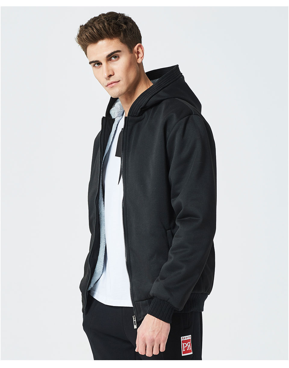 HTB1NgITXET1gK0jSZFhq6yAtVXaH LBL Winter Mens Fleece Jacket Thick Solid Bomber Jackets Men Slim Fit Hooded Coat Man Autumn Warm Tracksuit New Men's Sportswear