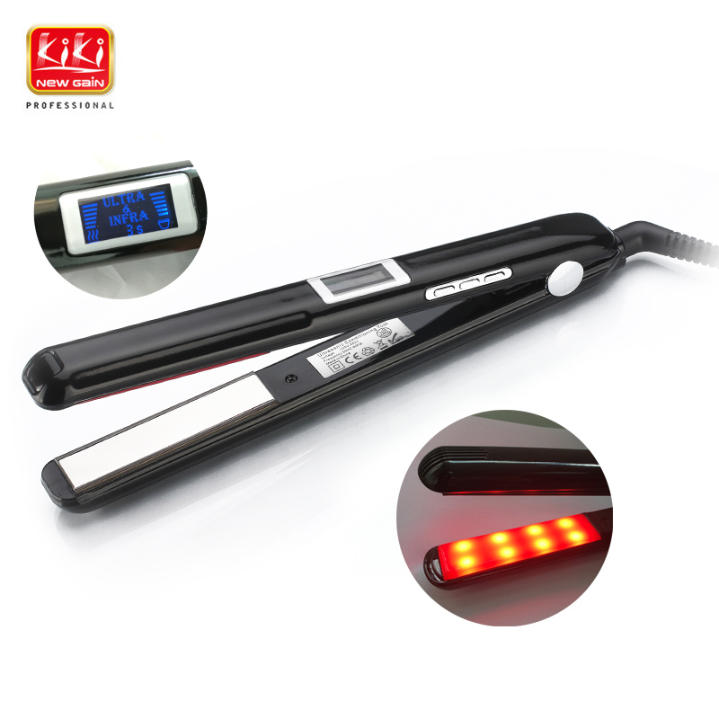 Ultrasonic & Infrared Hair Care Iron Recovers the damaged hair Hair Treament Styler Cold Iron Hair Care Treatment