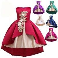 JAYLAY Baby Girl Flower Princess Dress For Wedding Party Pageant Formal Kids Dresses For Toddler Girl Children Sleeveless Clothing