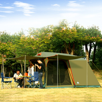 Authentic 4 8 Person Outdoor Camping 1 Hall 1 Bedroom Anti rain wind Big Traveling Camping Tent In Good Quality Large Space