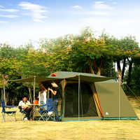 Authentic 4-8 Person Outdoor Camping 1 Hall 1 Bedroom Anti-rain wind Big Traveling Camping Tent In Good Quality Large Space
