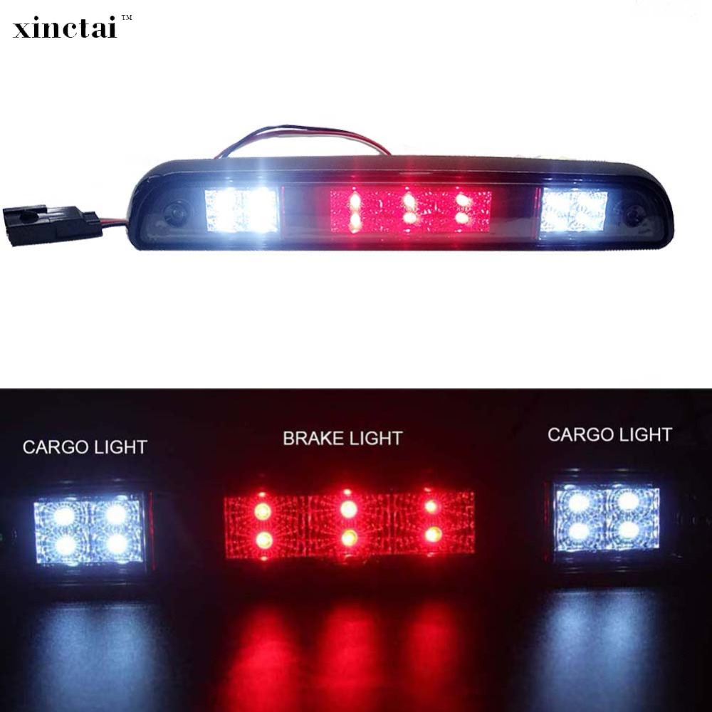 1PC High Mount LED Rear Stop 3rd Third Brake Light Cargo Stop Lamp for Ford F250 F350 F150 Bronco 1997 1996 1995 1994 Smoke Lens цена