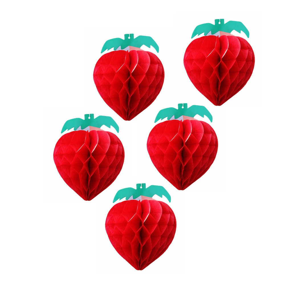 Buy 5pc honeycomb strawberry decoration for Apples decoration