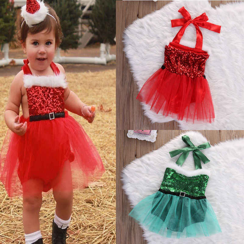 efce1fb5feea Detail Feedback Questions about 2018 New Bbrand Christmas Newborn Infant  Baby Girls Sequin Rompers Jumpsuit Santa Tutu Lace Dress XMAS Outfits  Costume on ...
