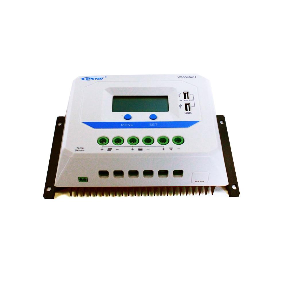 EPSOLAR VS6048AU 60A 12V 24V 36V 48V EP EPEVER New Viewstar Solar Charge controller LCD display epsolar vs3048au 30a 12v 24v 36v 48v ep epever new viewstar solar charge controller lcd display