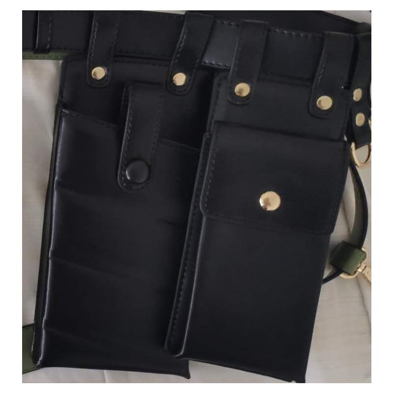 Women Waist Bag Fashion Leather Waist Belt Bag Crossbody Chest Bags Girl Fanny Pack Small  Phone Pack shoulder strap Packs 03037
