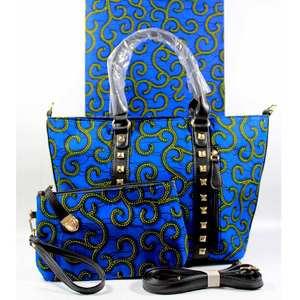 Image 5 - Micle moda afrykańska woskowana tkanina torba zestawy 3 sztuk/zestaw woskowana ankara torebka pasująca do 6 metrów prawdziwe najlepszych miękkie nowy wosk tkaniny