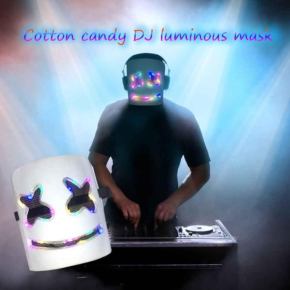 MarshMello маска диджея 7-цвета Flash Тип полный голову шлем маска на Хеллоуин для косплея бар Музыка Зефир шлем из ПВХ