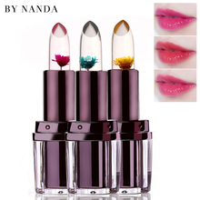 Natural Moisturizer Lips Temperature Change Color Flower Lipstick Waterproof Magic Transparent Jelly Lipstick Makeup Lip Balm