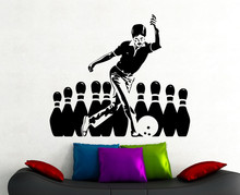 Bowling Stickers Sports Wall Decal Home Interior Living Room Decoration Club Decor Vinyl Art Waterproof Sticker