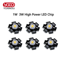 10pcs/lot Epistar 3w/1w led chips bulb diode lamp warm/cold/natural white/white/red/yellow/blue/green/UV for aquarium grow