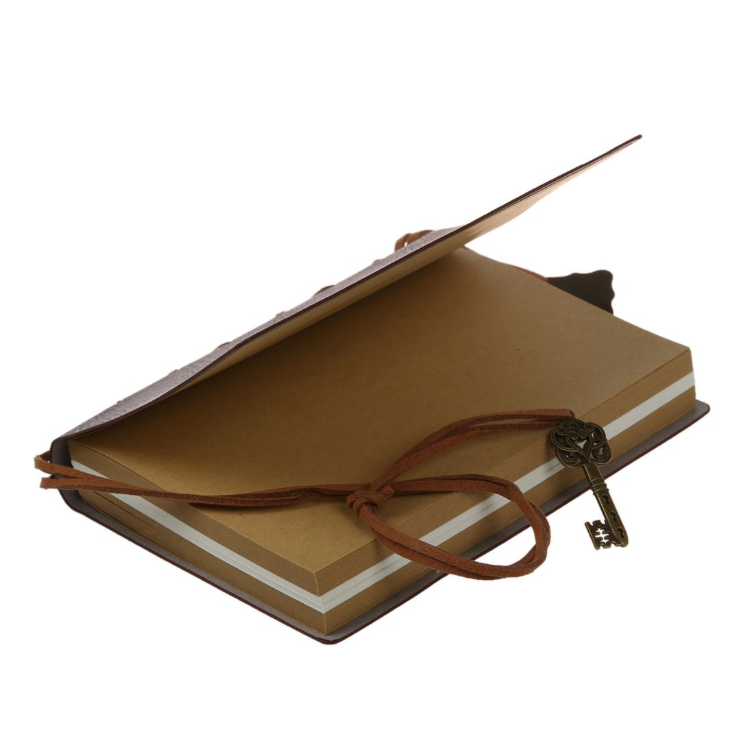 PPYY NEW -Delicate Cool Classic Vintage Leather Bound Blank Pages Journal Diary Notebook ppyy new tenfon g 3125 0 5mm pen pink