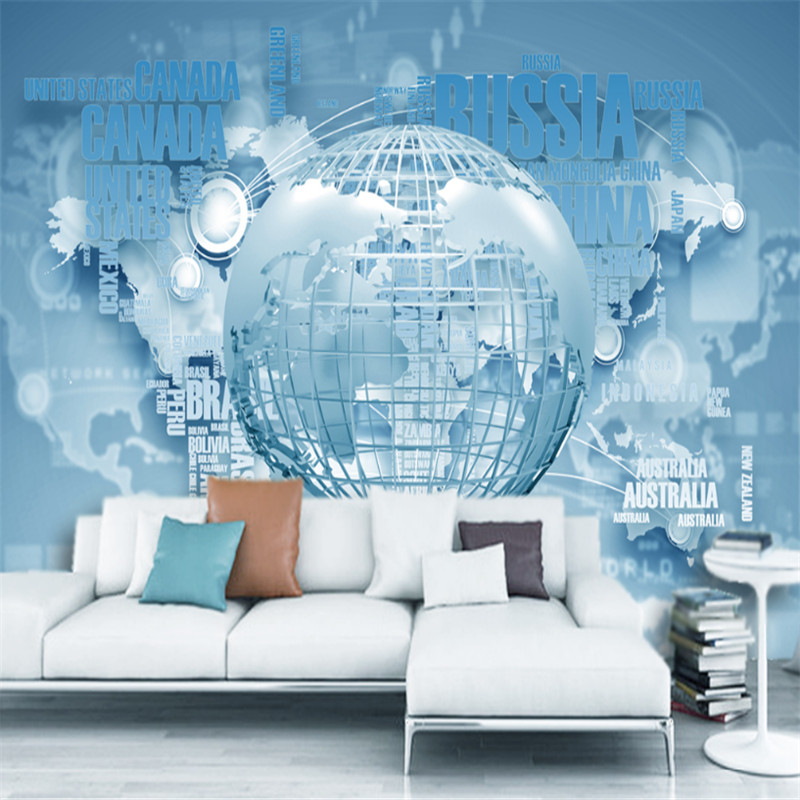 custom modern 3d non-woven wallpaper wall mural 3d wallpaper atmosphere fashion business world map hd TV background wallpaper custom modern 3d photos high quality non woven mural wallpaper 3d world cup football painting tv sofa background wall decoration