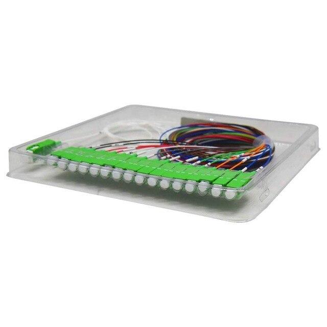 JYTTEK  Single mode Fiber Optical FTTH 0.9mm mini plc splitter 1x16