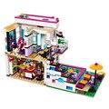 619 Unids Bela 10498 Series Amigos Livi de Pop Star House Building Blocks Andrea mini-muñeca de Juguete figuras Compatible con Legoe Amigo