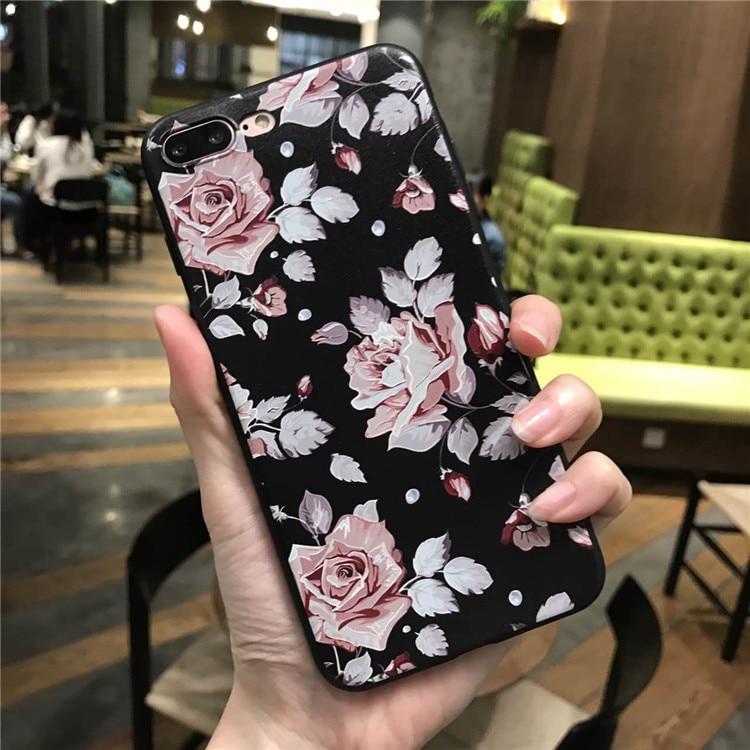 Pink White Rose Flower Silicone Ամբողջ մարմնի - Բջջային հեռախոսի պարագաներ և պահեստամասեր - Լուսանկար 4