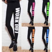 Women Sports Capri Running Stretchy Pencil Fitness Workout Wear Letters Print Yoga Pants Lady Gym Sportwear Leggings Trouser