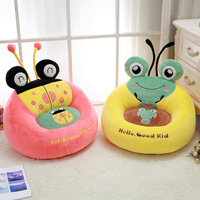 Cartoon Kids Seats Sofa Comfortable PP Cotton Animal Frog Bee Small Size Baby Portable Chair Gifts for Children