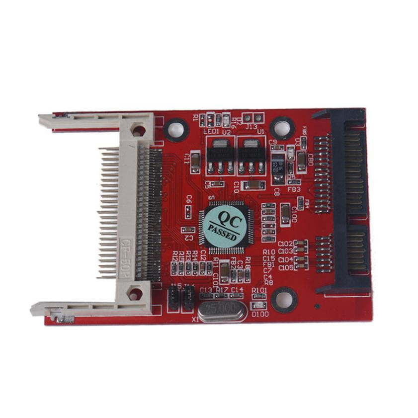 Factory Price Hot Selling 1PC CF Compact Flash Type I/II To 2.5 Inch SATA Serial Adapter Free Shipping Drop Shipping