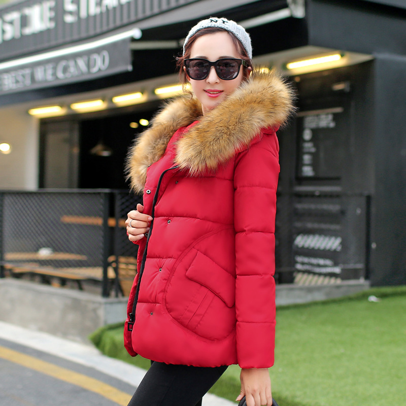 ФОТО 2016 New Fashion Women Warm Cotton-padded clothes Coat Medium Long Hooded Long sleeve Down cotton Slim B185