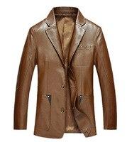 2017 кожаная куртка мужская Овчина кожа блейзер Для мужчин; кожаные куртки кожа блейзер 114-130 см М-3 XL