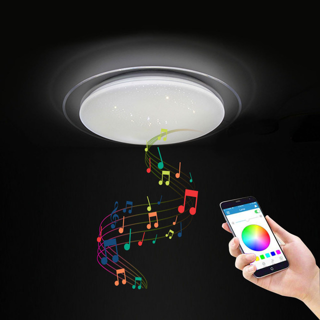 Modern LED ceiling Lights RGB Dimmable APP Remote control Bluetooth Music light bedroom lamps Smart ceiling lamp 36W 40W