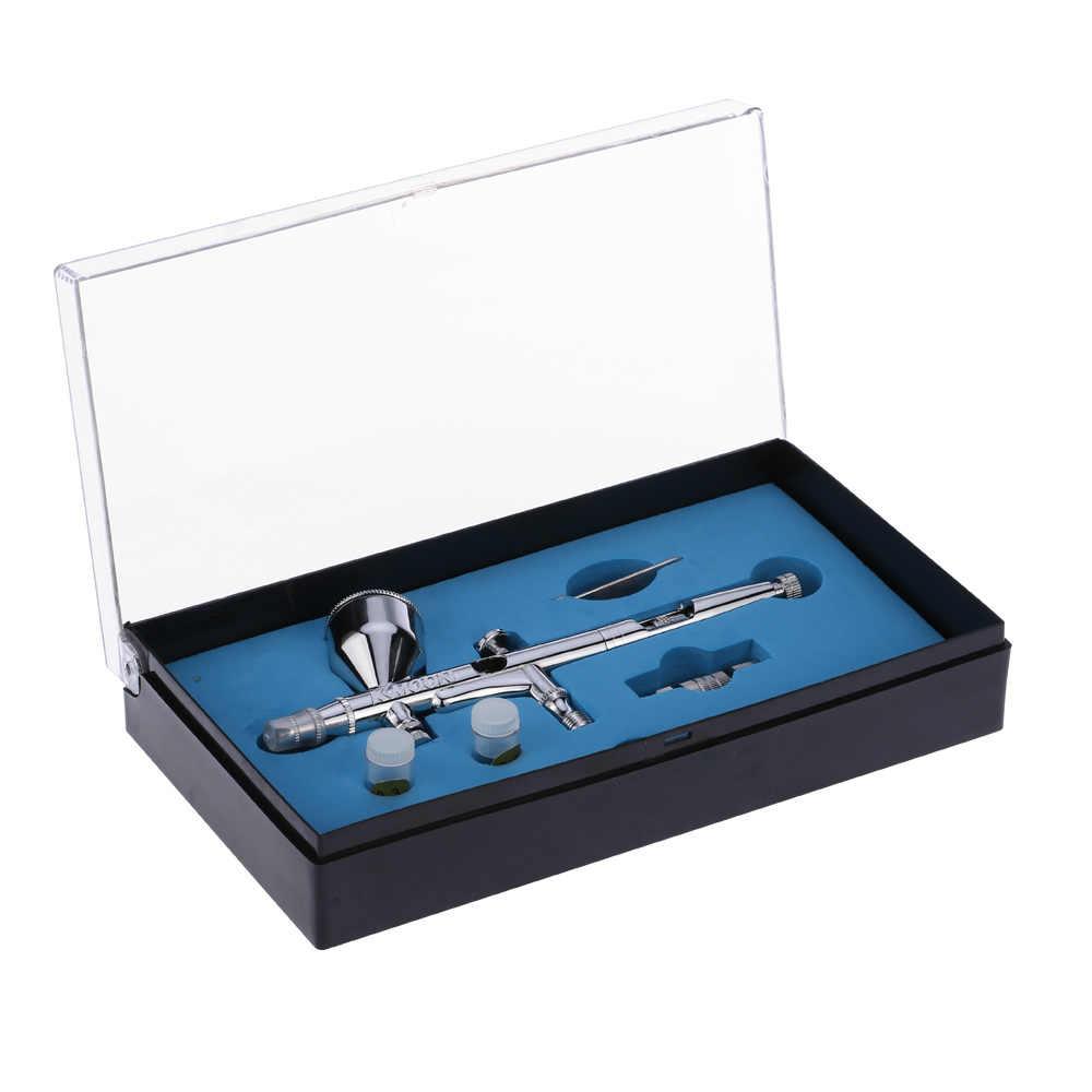 Yerçekimi Besleme için Çift Eylem hava fırçası seti püskürtme tabancası aerografo Sanat Boya Hobi Modeli Tırnak Hava Fırçası 0.2/0.3/ 0.5mm 9cc