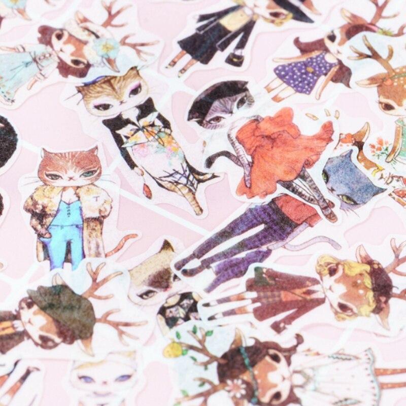 Купить с кэшбэком 40pcs/lot Beautiful life series paper sticker decoration Stickers Diary Decoration Scrapbooking diy seal Sticker Stationery