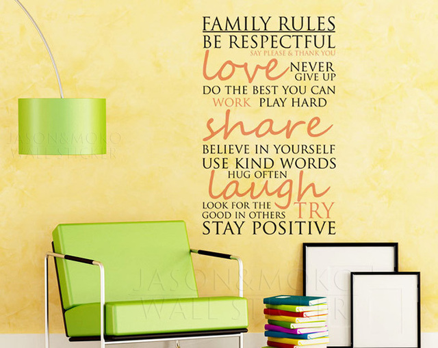 Art Wall Decals Wall Stickers Vinyl Decal Quote wallpaper Family ...