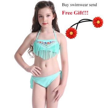 Kids Teens Green Bikini