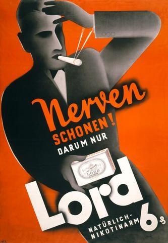 Nerven Schonen! (Your Nerves!) Advertising Design Poster Vintage Retro Canvas DIY Wall Stickers Home Posters Art Bar Decor