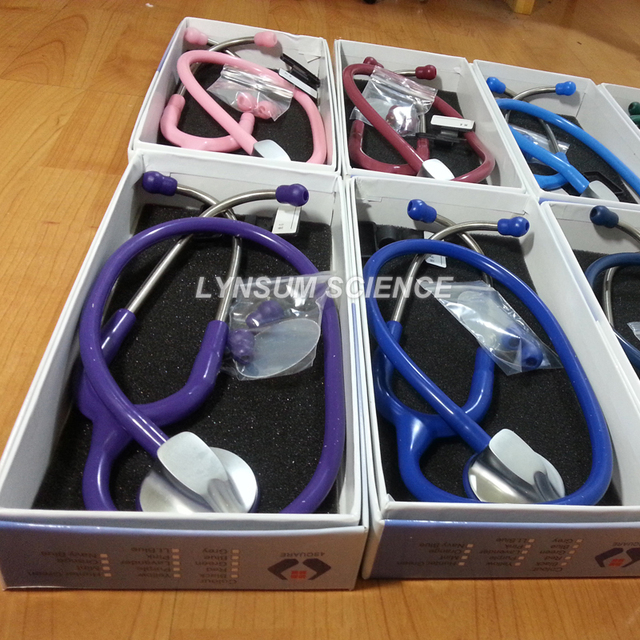 1 PCS Single Head Professional Cardiology Medical Cute Stethoscope with Name Tag 3